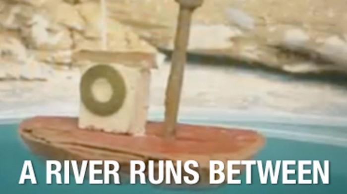 river runs between
