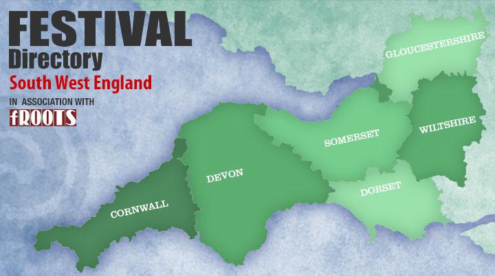 Festival map SW England