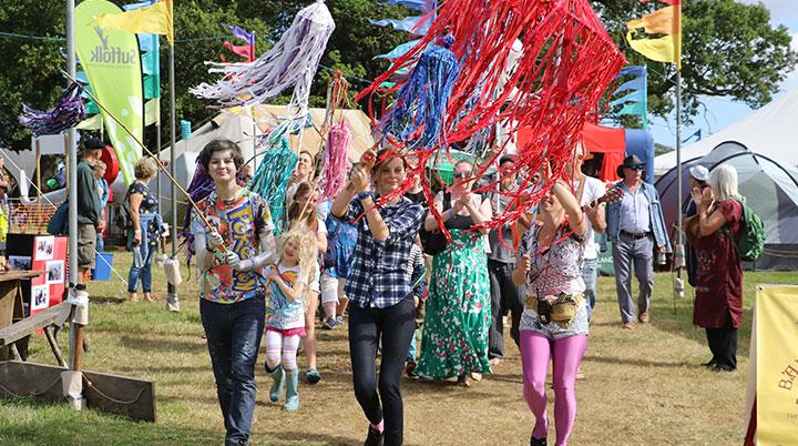parade at folk east
